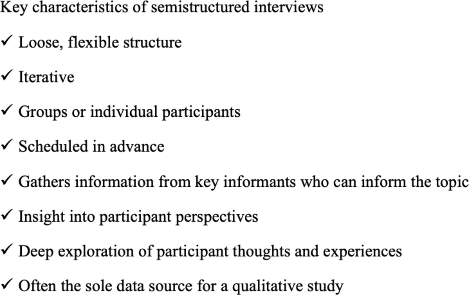 semistructured interviewing in primary care research  a balance of relationship and rigour